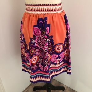 Anthropologie Edme & estylite silk skirt Sz 0